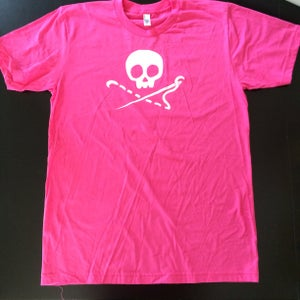 Image of PINK Sewing Skull T-Shirt