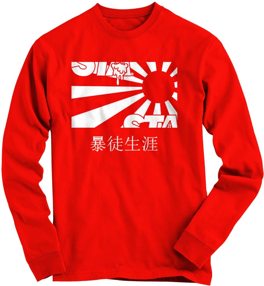 Image of Risen Sun Long Sleeve Red