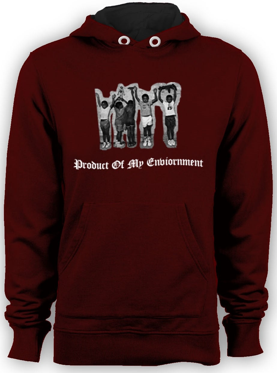 Image of Product Of My Environment Maroon Hoody
