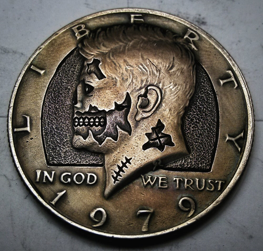 Image of Kennedy Half Dollar Zombie - Made To Order