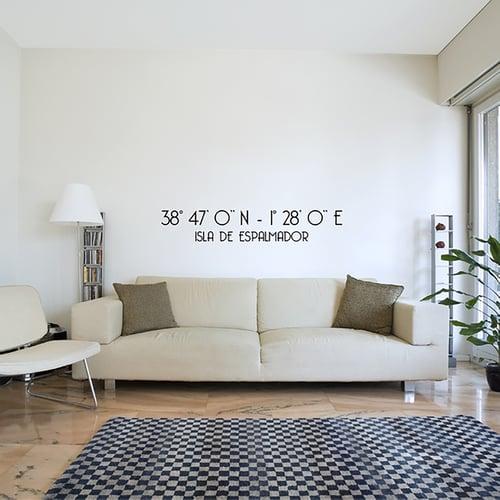 Image of Vinilo Coordenadas personalizable