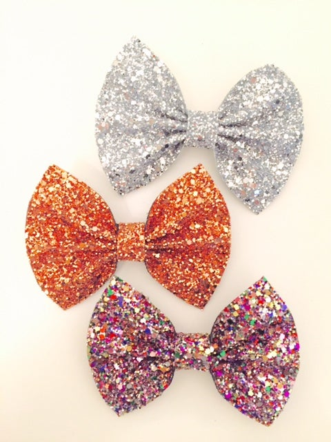 Image of GLITTER BOWS - AUTUMN SET