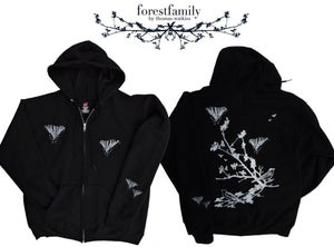 Image of Forest Family hooded sweatshirt (silver and white)