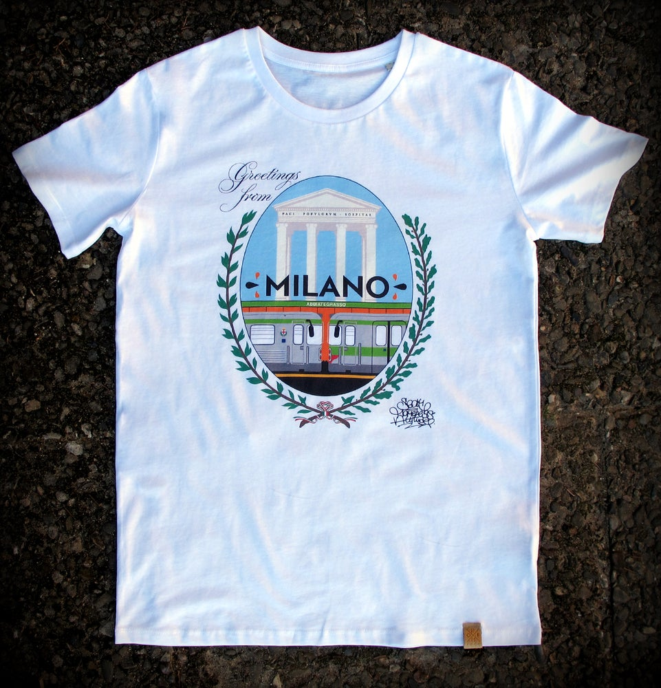 Image of HOMELESS GREETINGS FROM SEAT / T-SHIRT