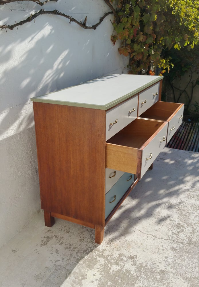 Image of Commode huit tiroirs - Vintage