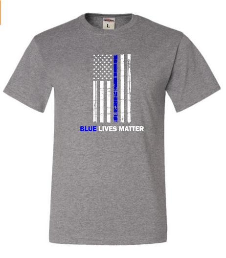 Image of #BlueLivesMatter Blue Thin Line Flag