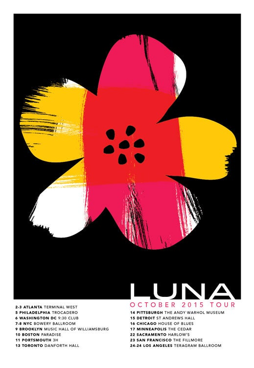 Image of Luna North American Tour Poster