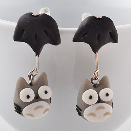 Image of Totoro Clay Earrings