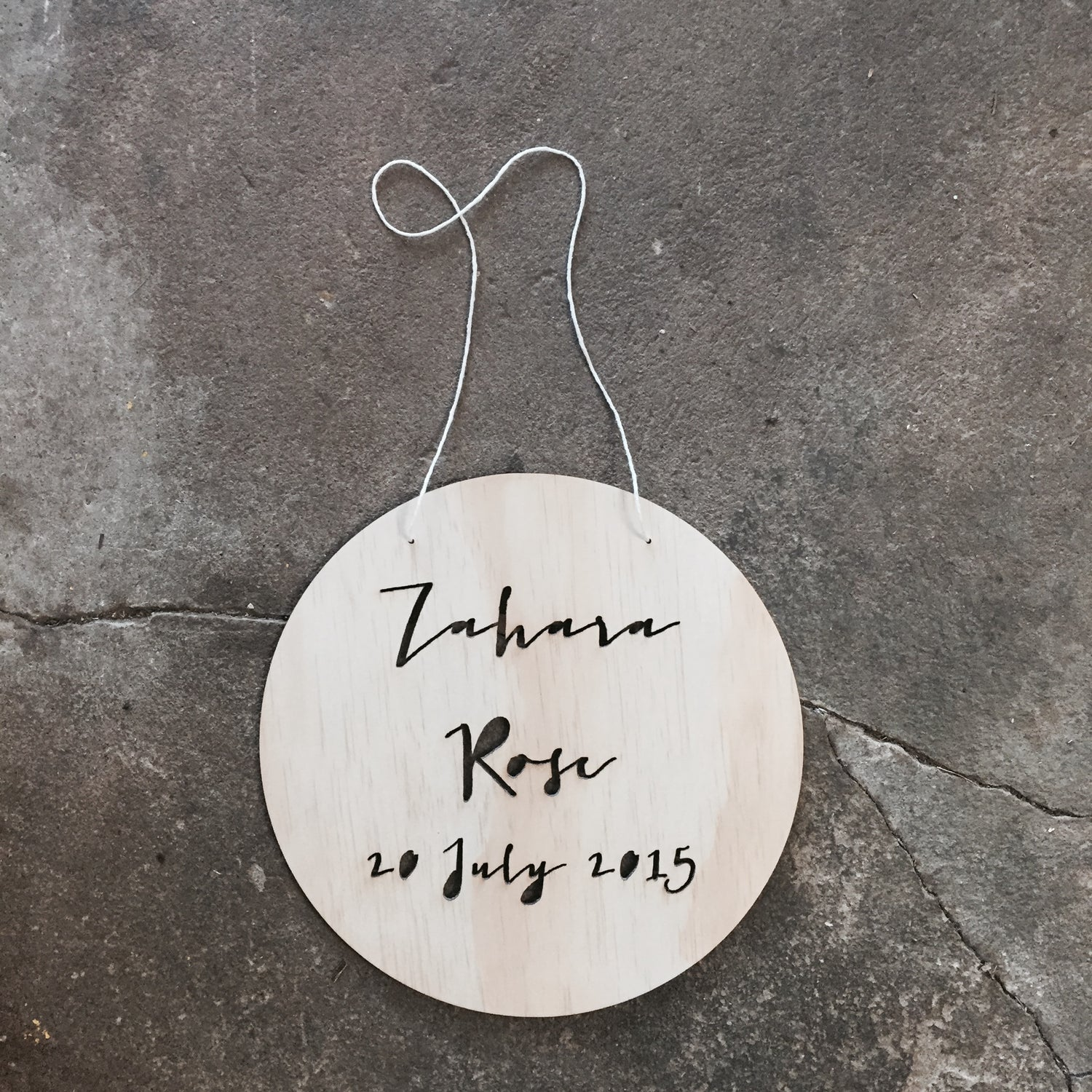 Image of BIRTH POLKA NAME PLAQUE