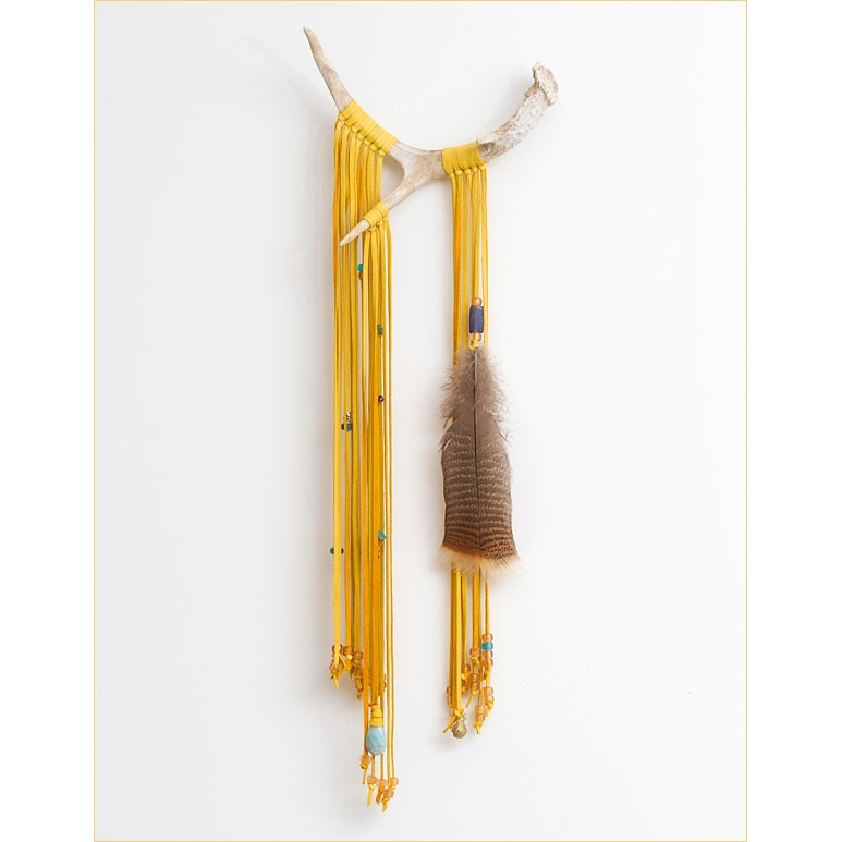 Image of Reverie: Antler & Feather Wall Hanging