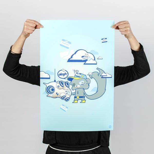 Image of Doze - Bip Bear - Art Print