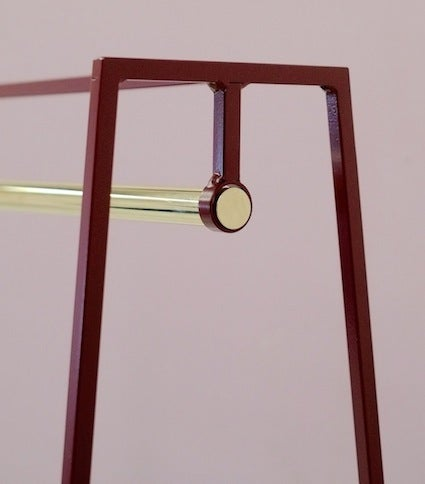 Image of 'A' clothes rail brass | 13 colours