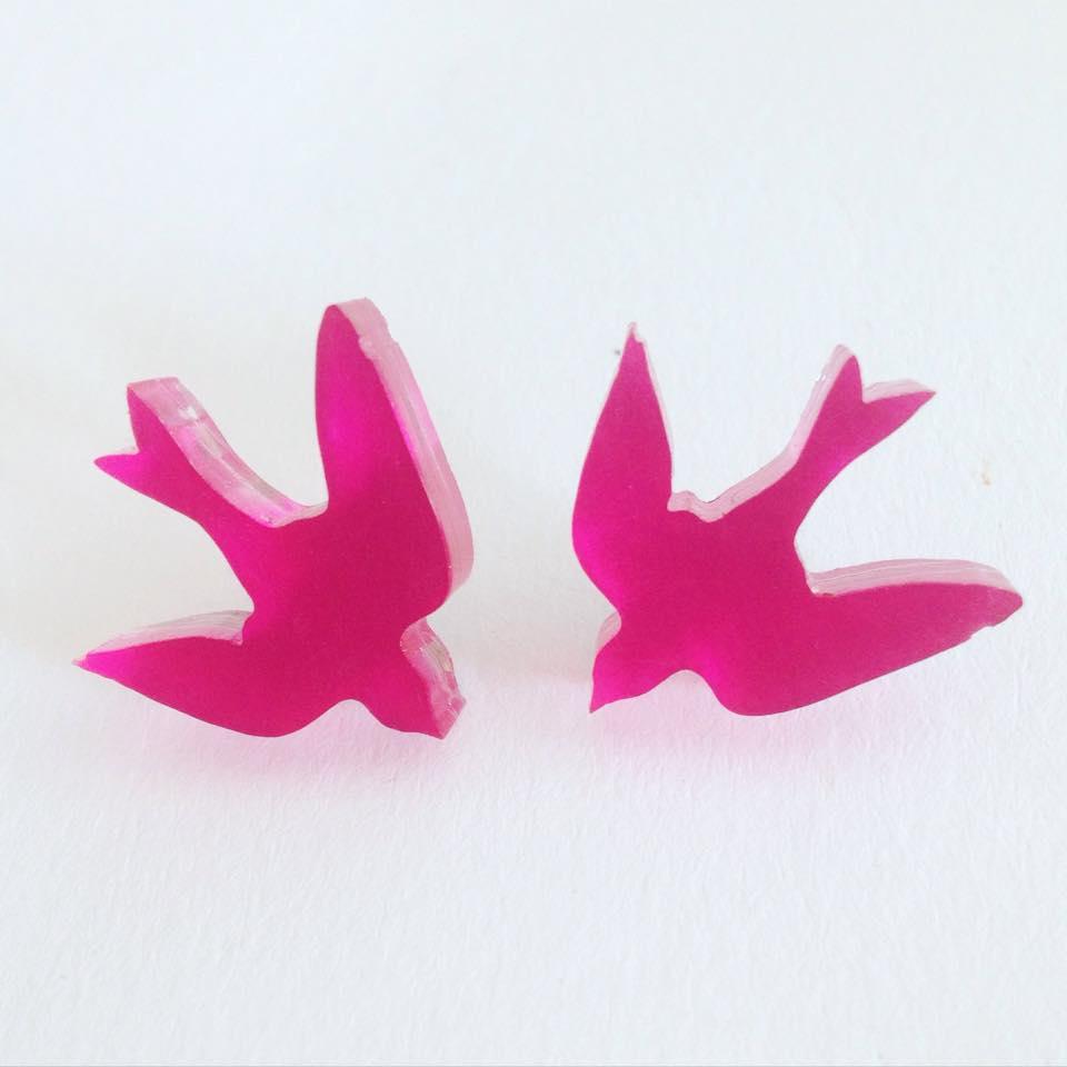 Image of Náušnice Birds v 6 barvách
