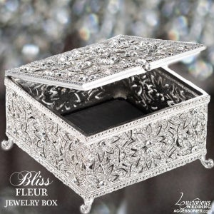 Image of Bliss Swarovski Crystal Fleur Jewelry Box