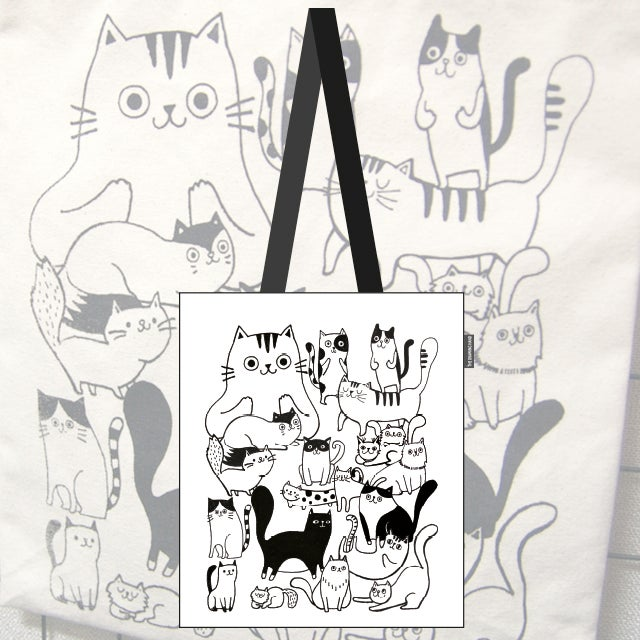 Canvas bag for cat lovers!
