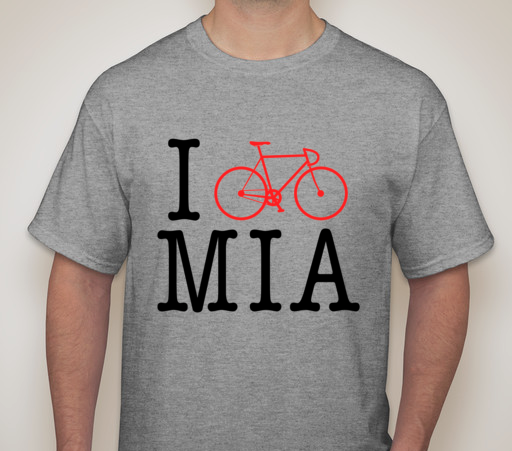 "Image of ""I BIKE MIA"" Men's Tee"