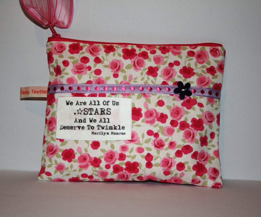 Image of `Stars & Twinkle` quote purse