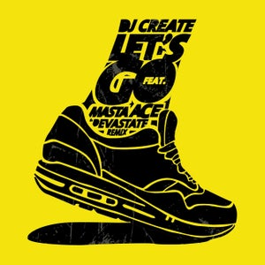 """Image of DJ CREATE & MASTA ACE """"LET'S GO"""" 7"""" Yellow (Limited & Numbered)"""
