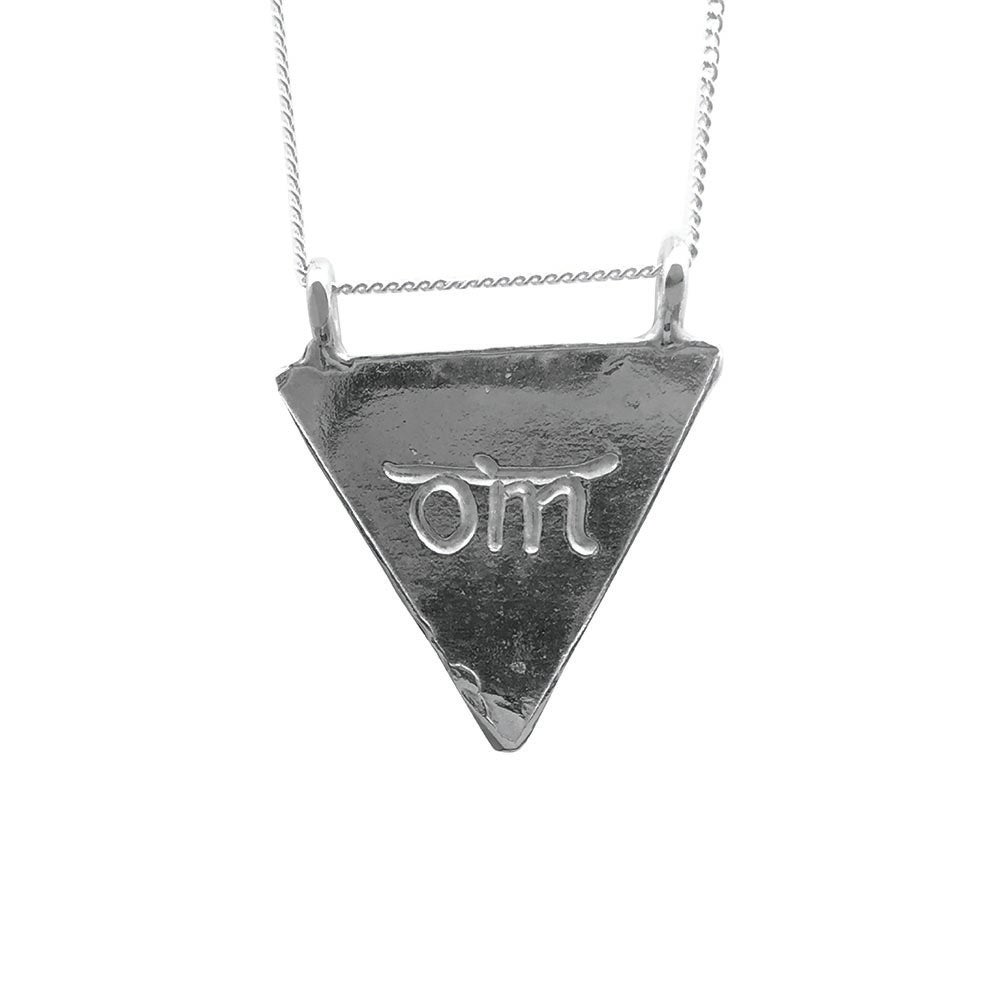 Image of Karmala Triangle Necklace Om