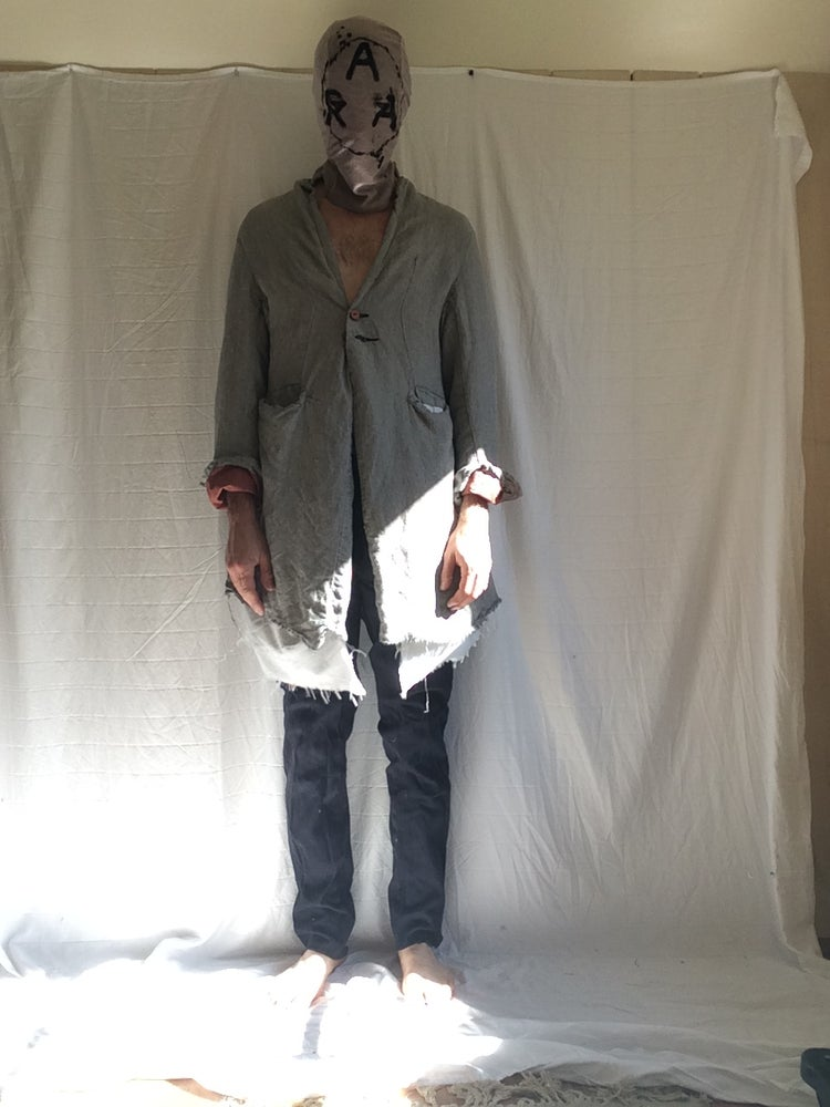 Image of Raw hem Sunday long coat (Made to order)