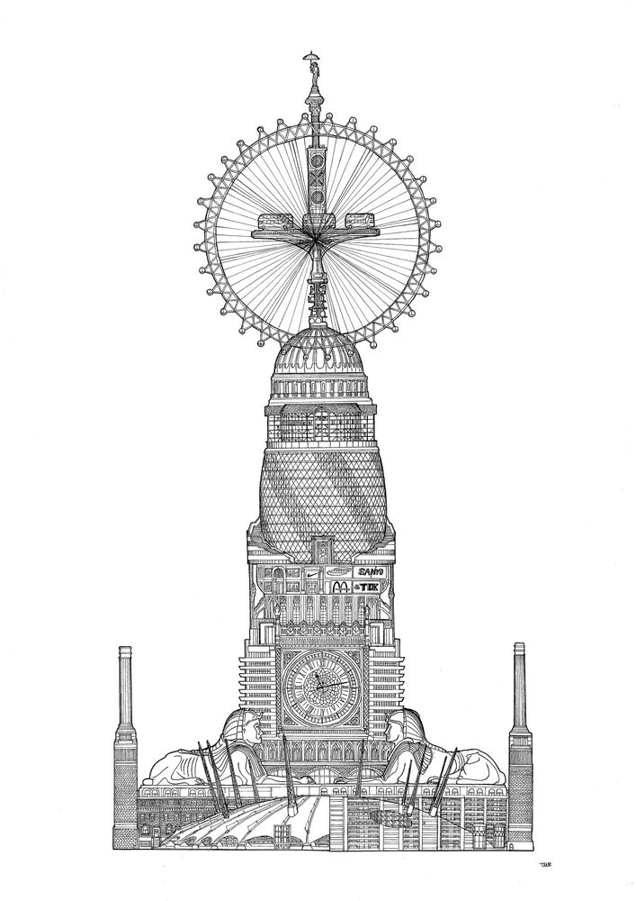 Image of London. Screenprint.