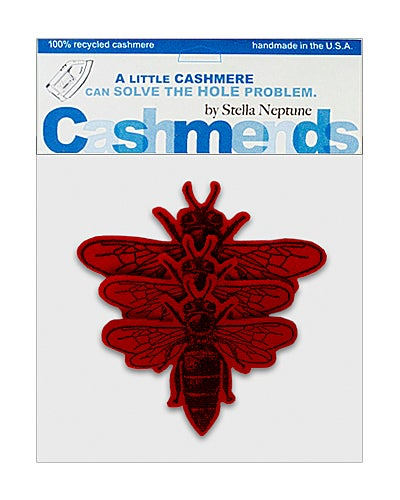 Image of Iron-On Cashmere Bees - Classic Red
