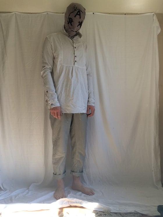 Image of Rectangular Bib Henley Shirt (Made to order)