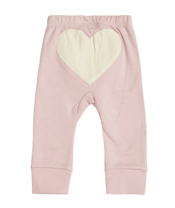 Image of Sapling Child organic Pink  heart Pants 6-12m