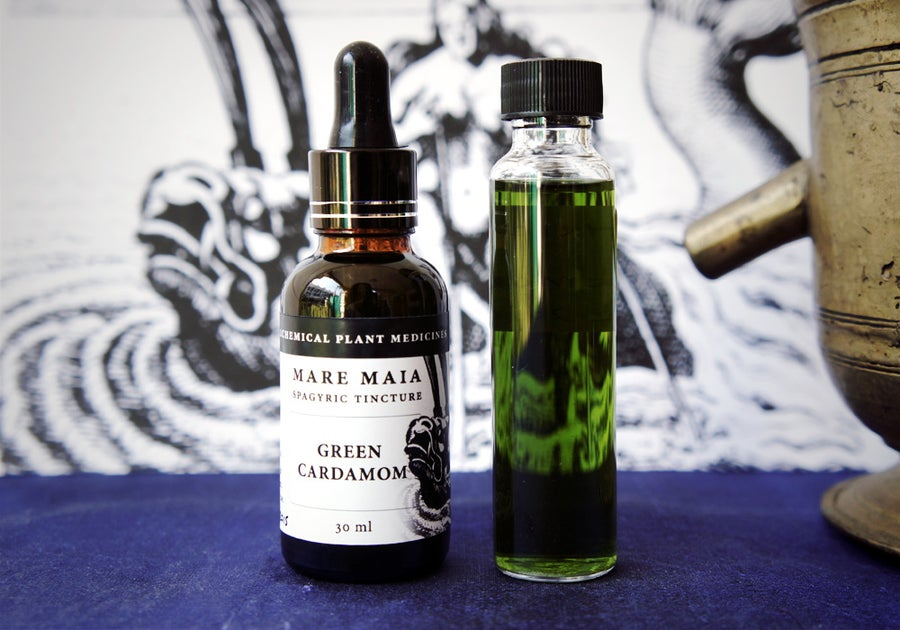 Image of CARDAMOM spagyric tincture - alchemically enhanced plant extraction