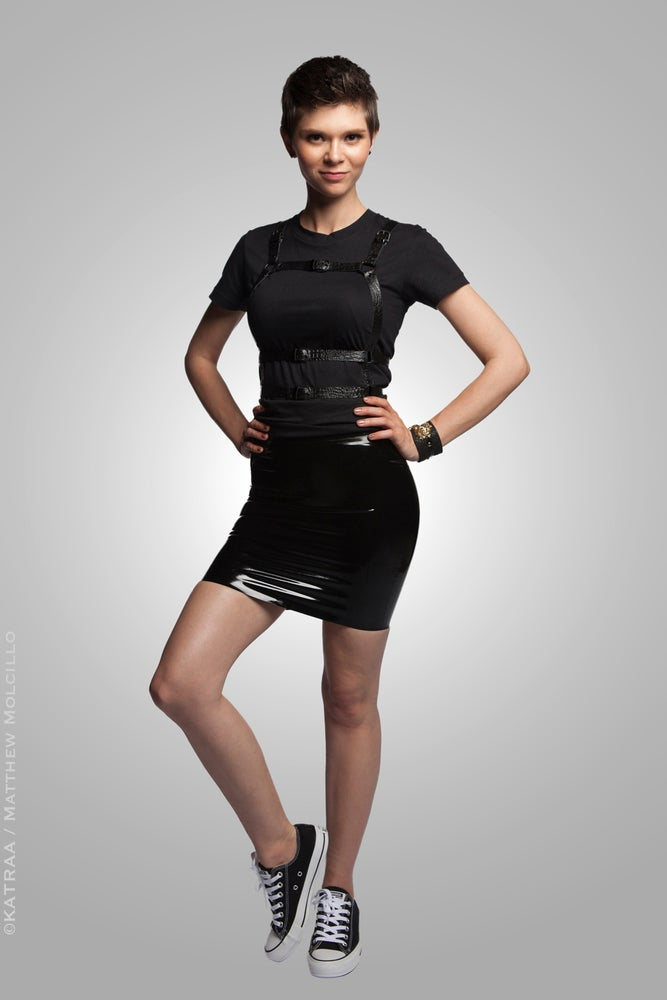 Image of Serpens Osculum • Four Panel Latex Mini Skirt