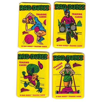 "Image of ""RAD DUDES"" TRADING CARDS - PACIFIC 1990"