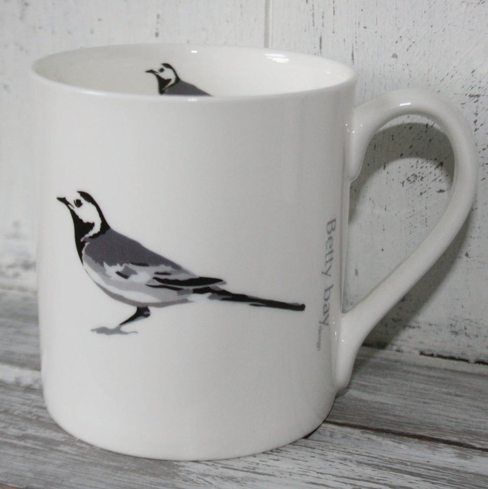 Image of Pied Wagtail English fine bone china Mug
