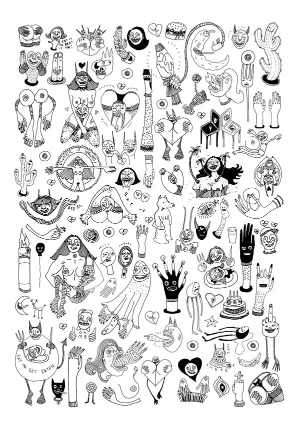 Image of Squad - A3 Print By Polly Nor