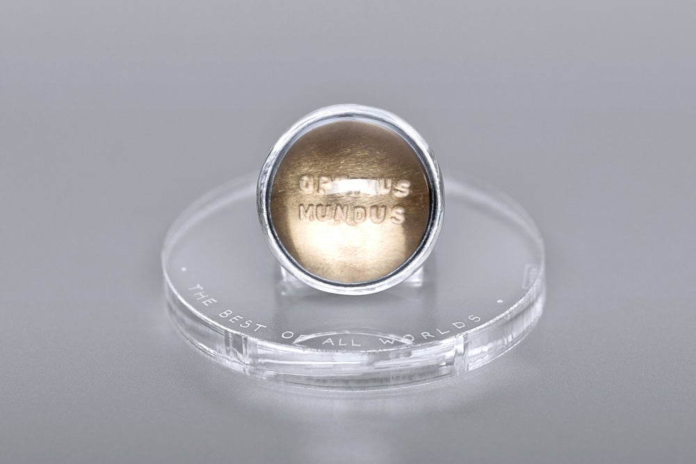 Image of silver ring with smoky quartz OPTIMUS MUNDUS