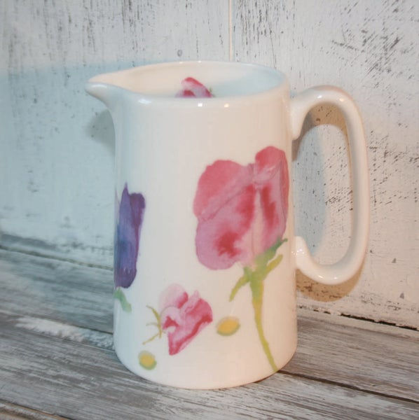 Image of Sweet Pea Fine Bone China 1/2 Pint  Jug