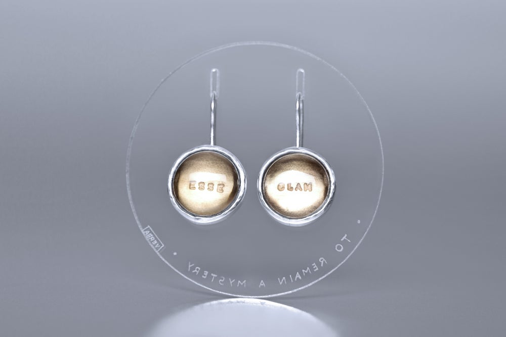 Image of silver earrings with smoky quartzes