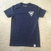 Image of Cats and Triangles Ltd Logo T-Shirt - Navy/White