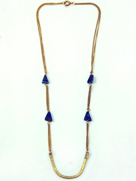 Image of Lapis Curve Necklace