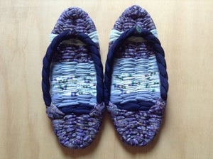 Image of Japanese Indoor Slippers(purple and blue)