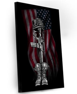"Image of The Fallen Soldier Canvas 14""X14"""