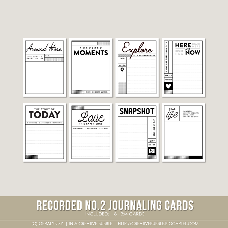 Image of Recorded Journaling Cards no.2 (Digital)