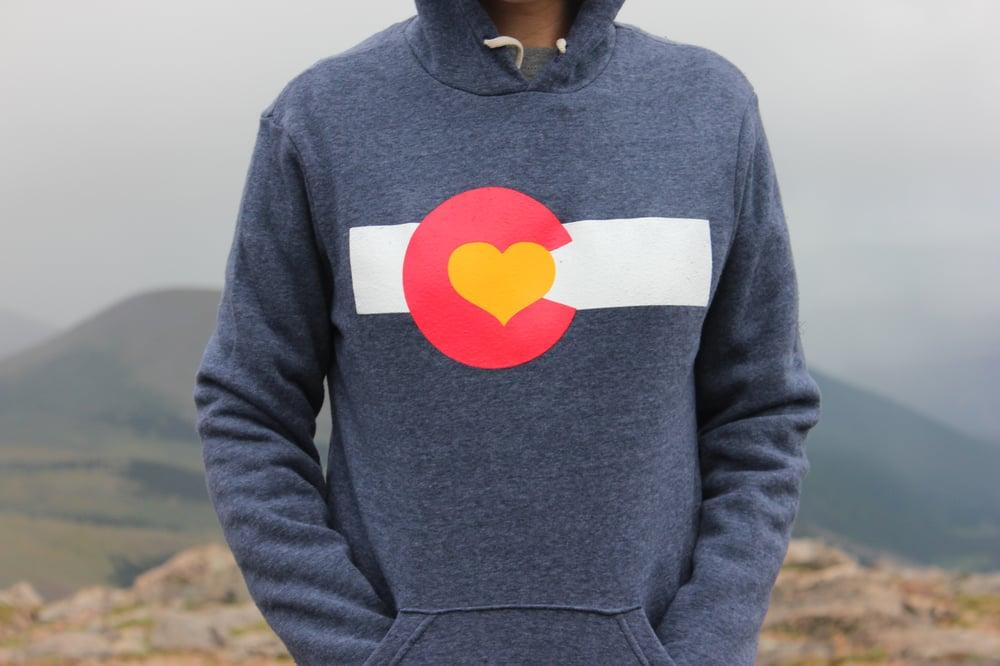 556112ae4 Image of Colorado Love Pullover Hoodie-Navy ...