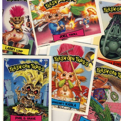 Image of TRASH CAN TROLLS - STICKERS - GROSS 90s