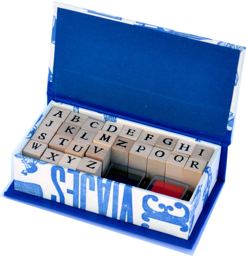 Image of Alphabet rubber stamps set