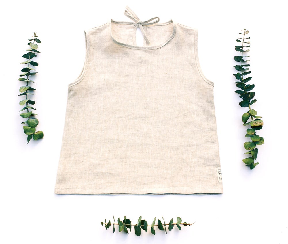 Image of NATURAL LINEN TOP