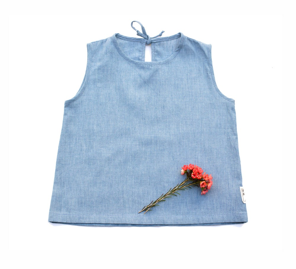 Image of CHAMBRAY  TOP