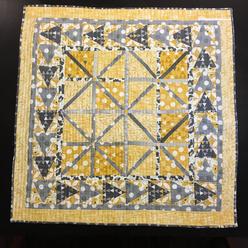 Image of Mini Pompeii Mosaic Quilted Wall Hanging
