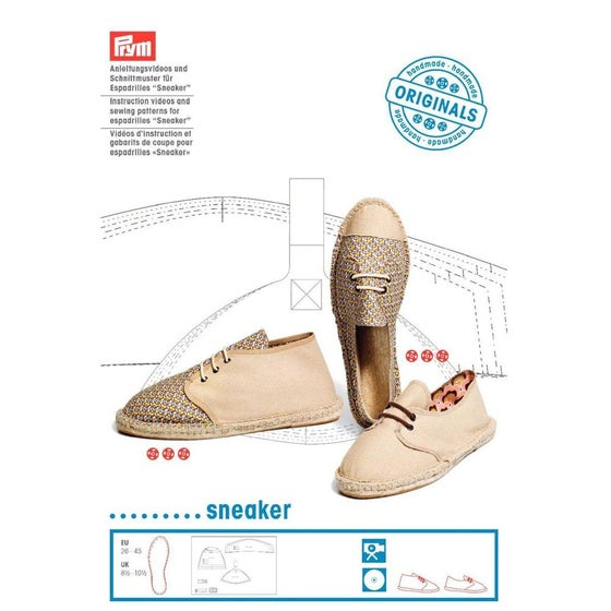 Image of sneaker espadrilles - instruction videos and sewing patterns
