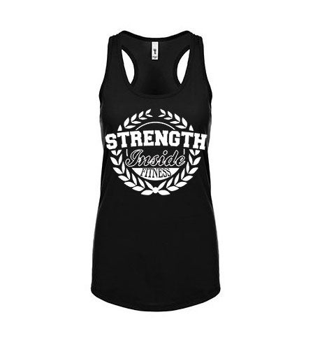 Image of WOMEN'S BLACK LOGO TANK-TOP