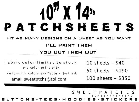Image of Patch Sheets